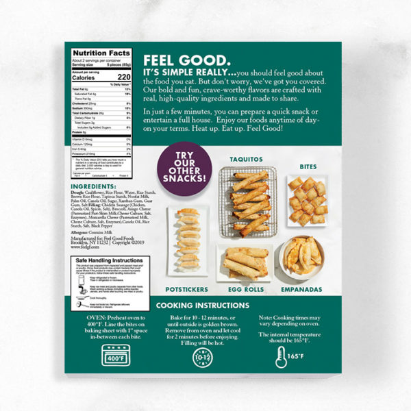 Chicken Sausage & Broccoli Snack Bite Nutrition Info